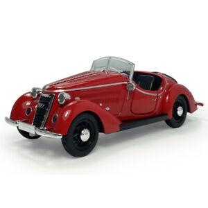 1:32 Vintage 1937 Audi Wanderer W25K Roadster Model Car Diecast Vehicle Red