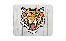 Cool Mascot Tiger Mouse Mat Pad - Animal Sports Team Lion Gift Computer #4088