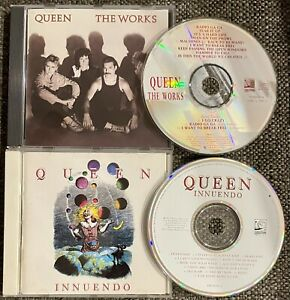 QUEEN The Works And Innuendo & FREDDIE MERCURY Album (Solo) 3 CD Lot