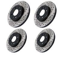 Front & Rear Brake Rotors Drill , Slot & For ,Chevrolet, Pontiac, Saturn