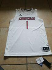 Adidas NCAA Louisville Cardinals Basketball Swingman Jersey #1 White Mens Size M