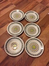 Stunning Set Of Kathie Winkle Roulette Side Plates In Excellent Condition - 17Cm