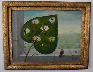 René Magritte. framed. oil on canvas. signed