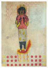 nabARus 081016-3 Huile sur papier- oil on paper-Art brut-Art Singulier 18x26 cm