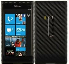 Skinomi Carbon Fiber Black Phone Skin+Screen Protector Cover for Nokia Lumia 800
