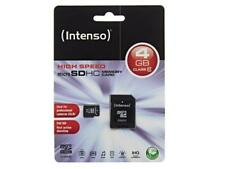 4 GB Micro SDHC Speicherkarte + SD Adapter Class 10, INTENSO, FULL HD , WOW