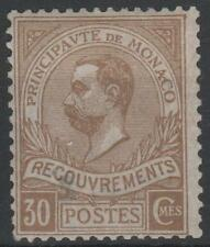 "MONACO STAMP TIMBRE TAXE 10 "" PRINCE ALBERT 1er 30c BISTRE "" NEUF xx A VOIR M634"