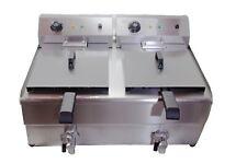 More details for davlex commercial electric deep fat chip fryer 26 litre double twin basket drain