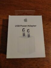 New Apple 5W USB Power Adapter Charger Wall Plug for iPhone iPod