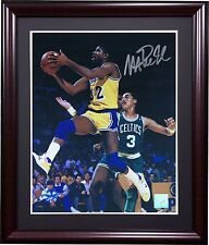 Magic Johnson Signed 8x10 Framed Photo Lakers Autograph Superstar Greetings COA