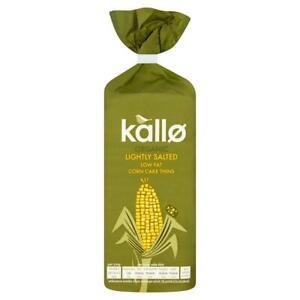Kallo Organic Lightly Salted Corn Cakes 130g