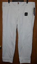Womens White Denim INC Denim Boyfriend Slim Tech Fit Jeans Size 24W NWT NEW