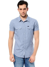 Lee® Jeans 'Rider' Micro Check Shirt/Blue - Small  SRP £55.00