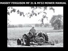 Massey Ferguson Mf 31 32 Mower Manuals 75pg for Mf31 Mf32 Service & Maintenance
