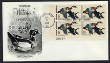 1968 Waterfowl Conservation - Fleetwood Plate Block FDC PJ472