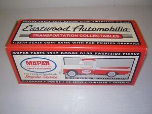 (NEW) MOPAR Eastwood Automobilia 1957 Dodge D100 Sweptside Pickup 1/25 Scale