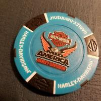 MID-AMERICA HD~ MISSOURI ~ (Full Color B. Blue/Black) Harley Davidson Poker Chip