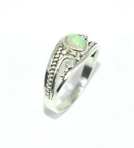 LOVELY NATURAL FIRE OPAL STERLING RING 925 N