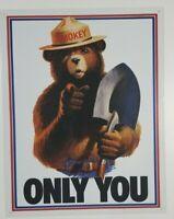 "Smokey Bear Only You Decorative Wall Décor Tin Sign, 12.5"" W x 16"" H"