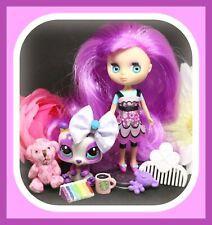 ❤️Littlest Pet Shop LPS BLYTHE #B47 Pretty in Purple Panda Bear #2459 Doll Lot❤️