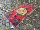 Mini Area rug, Turkish, Vintage, Handmade rug, Wool, Bohemian | 2,2 x 4,3 ft
