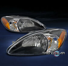 FOR 2000-2007 FORD TAURUS OE STYLE REPLACEMENT HEADLIGHT HEADLAMP BLACK PAIR SET