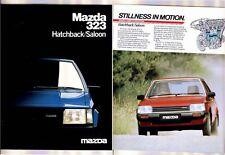 1983 MAZDA 323 Australian Brochure Includes SS. Like FAMILIA