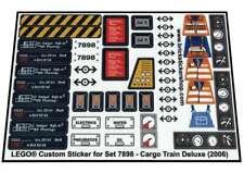 Precut Replica Sticker for Lego Set 7898 - Cargo Train Deluxe (2006)