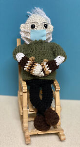 Bernie SANDERS  Mittens Crochet Doll PLUSH STuffed Amigurumi TOY handmade NEW