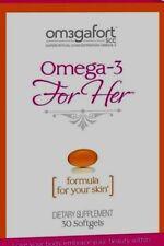 Omegafort For Her Formula For Your Skin Soft Gels, 30 Ct  Exp 05/2019 (Lot of 2)