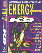 ENERGY RUSH K9 N-TRANCE JODECI TINMAN CASSETTE ALBUM DANCE 1995 R KELLY GRID