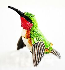 Bejeweled Humming Bird By Ciel. Made By Hand with Swarovski Crystals & Enamel