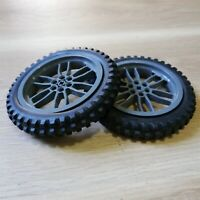 LEGO - x2 qty Wheel Tire 100.6mm D. Motorcycle