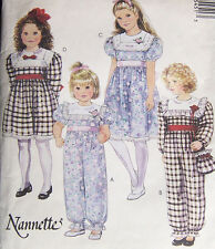 vintage sewing pattern Girl's 2 3 4 FANCY DRESS & JUMPSUIT big collar ruffles