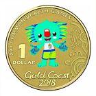 Australia 2018 Gold Coast Commonwealth Games Borobi $1 UNC Coin Carded RAM