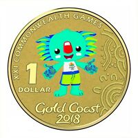 Australia 2018 Gold Coast Commonwealth Games Borobi $1 UNC Coin Carded RAM