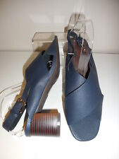 Navy Blue Strappy Shoes / Sandals Size UK 6 Wide Fit (EEE) BNIB From Evans