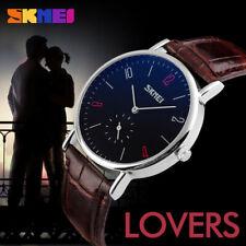 Sport Watch Fashion Leather Mens Womens Wristwatches Lover Quartz Analog do
