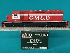 37-6334 Kato HO Scale SD40 Gulf Mobile Ohio NIB