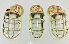 nautical new marine brass ship american passageway light 3 piece