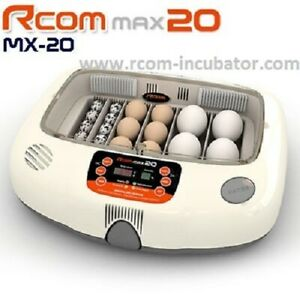 R-COM  RCOM 20 MAX  EGG  INCUBATOR AUTOMATIC TURNER  BRAND NEW 1 YEAR WARRANTY
