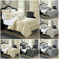 3 Piece Quilted Bedspread Bed Throw Double King Size Bedding Set Pillow Cases