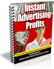 INSTANT ADVERTISING PROFITS PDF EBOOK FREE SHIPPING RESALE RIGHTS