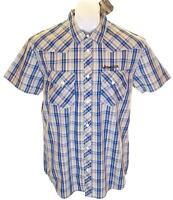 BNWT pour hommes Wrangler manche courte chemise à carreaux grand coupe standard