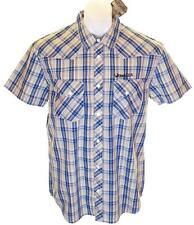 Bnwt Men's Wrangler Short Sleeve Checked Shirt RRP£59.99 Large Regular Fit