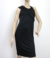 $1450 NEW Authentic Gucci Dress w/Flower Brooch,sz M, Black, #284279