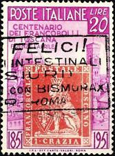 ITALIA REP. - 1951 -  Centenario dei primi francobolli di Toscana - 20 Lire
