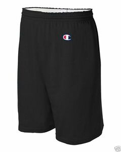 "Champion Mens S-XL, 2X 3XL C-8187 Athletic Cotton 6"" Inseam No Pocket Gym Shorts"