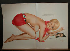 Alberto Vargas Centerfold Wants  to Looks Like Twiggy