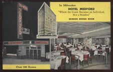 Postcard MILWAUKEE Wisconsin/WI  Hotel Medford Bamboo Dining Room view 1930's
